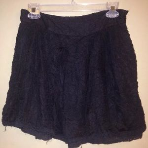Free People Black Lace Skirt M